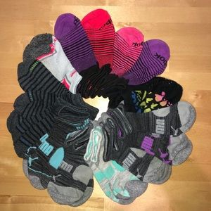 15 pair of Ankle Socks SM/MED Mixed Brand (c)